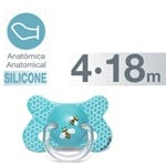 Suavinex Basic Fusion Anatomical Silicone Pacifier  4-18 m Honeycumb