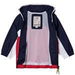 Timberland Navy and Red Colour Block Small Tree Logo Windbreaker
