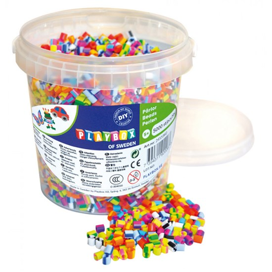 Playbox Perler Beads striped mix bucket 5000 pcs