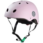 STOY Helmet Light Pink with Green buckle