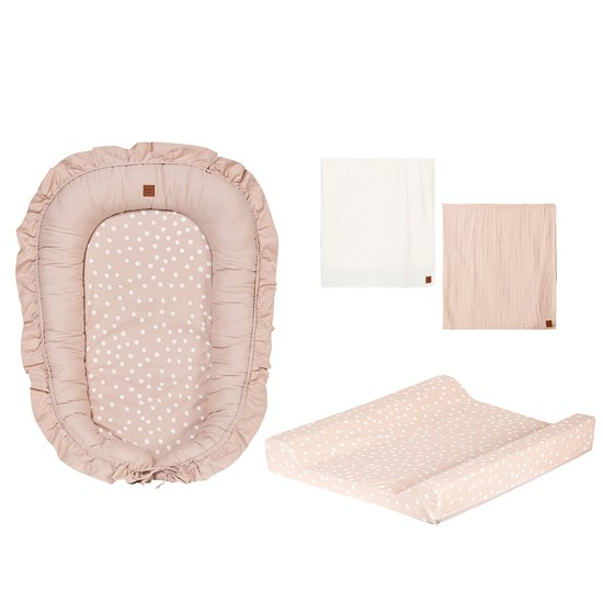 Buddy & Hope Changing bed, Babynest and Muslin Blanket 2-p Pink