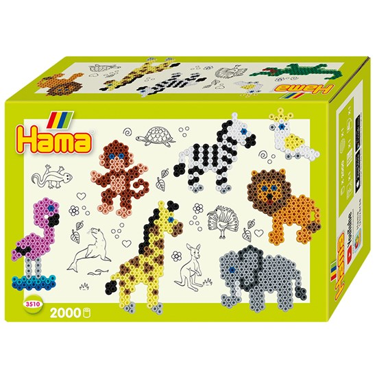 Hama Midi Gift Box Zoo Animals 2000 Pcs.