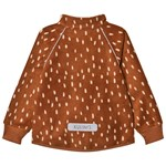 Kuling Livingo Recycled Wind Fleece Jacket Dots Brown