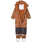 Kuling Douglas Recycled Rain Coverall Dots Brown
