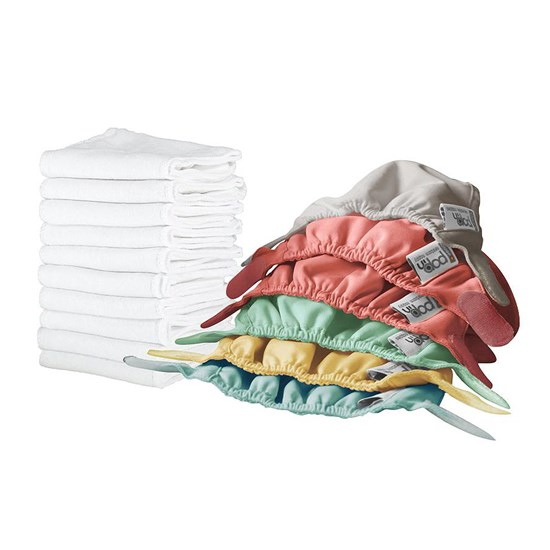 Close Nappy 10 Pack Bamboo Newborn 2-5,5 kg Box Pastel