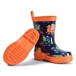 Hatley Navy Dragons Shiny Wellies