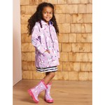 Hatley Purple Playful Unicorns Colour Changing Raincoat
