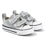 Converse Chuck Taylor All Star OX Infants Velcro Sneakerser Sølvfargede