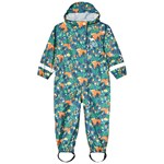 Frugi Green Woodland Creatures Waterproof Rain Or Shine All in One