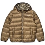 Champion Khaki All Over Branded Padded Jacket