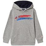 Champion Grey Branded Ultra Light Pull Over Fleece Hoodie