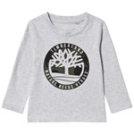 Timberland Grey Big Timberland Camo Print Long Sleeve Tee
