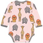 Småfolk Wild Animal Baby Body Coral Blush