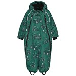 Småfolk Snowsuit 2 Zipper Tractor Hunter Green