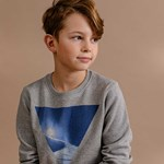 ebbe Kids Ethan Sweater Grey Ski Slope Print