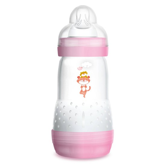 MAM Tåteflaske, Anti Colic Bottle, 260 ml, Rosa