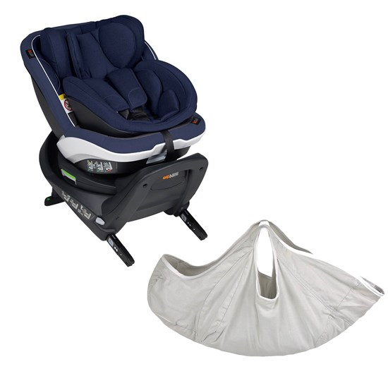BeSafe BeSafe IZi Twist B i-Size Car Seat Navy Melange + iZi Transfer Light Grey