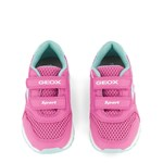 Geox Fuchsia and Aqua Pavel Velcro Trainers