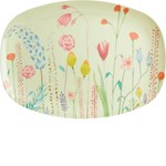 Rice Melamine Rectangular Plate with Summer Flowers Print